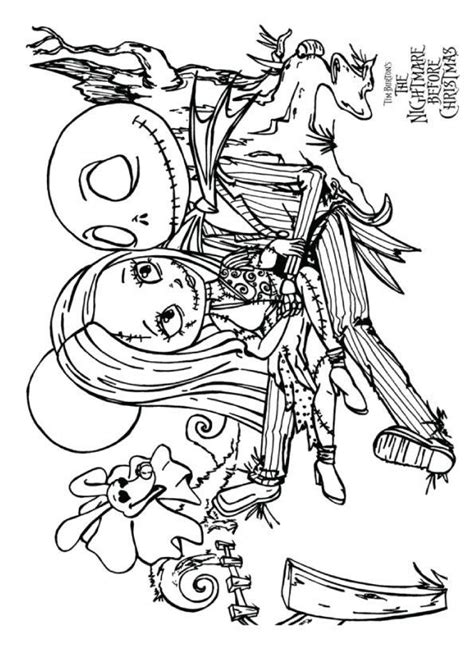 top  nightmare  christmas coloring pages     christmas coloring