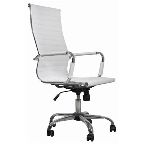 chaise bureau blanc chaise de bureau simili cuir blanc dossier haut achat