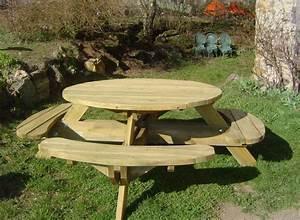 plateau bois pour table exterieur maison design bahbecom With banc en teck pour jardin 14 table pique nique avec bancs en teck massif et pieds en