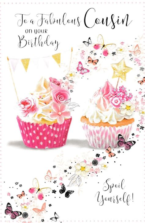 female cousin traditional birthday card   cards