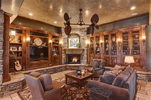 Splendid Built in Cabinets Around Fireplace with