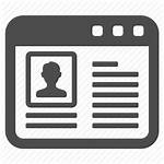 Icon Webpage Profile Pages Web Icons Management