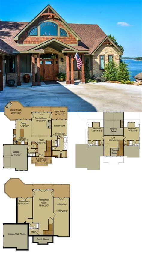 cottage plans designs lakefront cabin cottage home designs house plans rear view