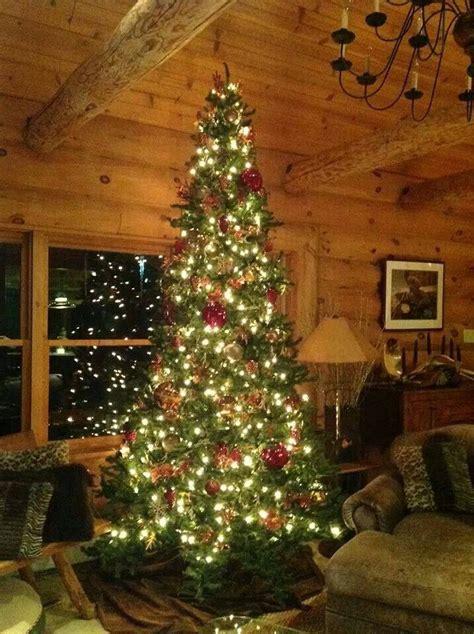 love  tree christmas cabin christmas log cabin