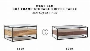 west elm box frame storage coffee table copy cat chic With box frame storage coffee table