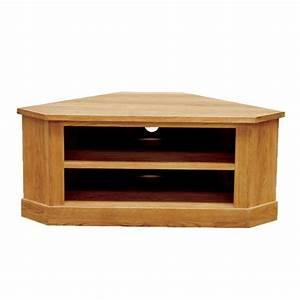 Meuble De Tele D Angle : meuble tv d 39 angle bas en ch ne massif brooklyn ~ Nature-et-papiers.com Idées de Décoration