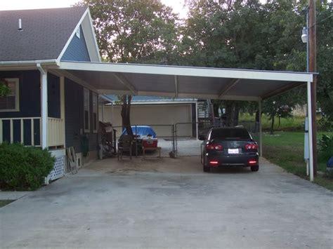 build wooden attached metal carport plans