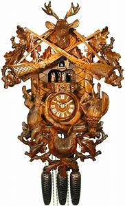 Cuckoo, Clock, 8-day-movement, Carved-style, 60cm, By, August, Schwer