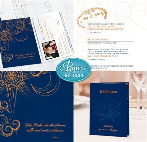 hochzeit hochzeitskarte einladung reisepass wedding