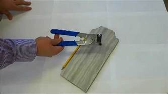 How To Cut Small Tiles by How To Cut Tile With Handheld Tile Cutters Youtube