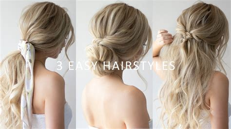 how to 3 easy hairstyles spring hairstyles 2019 youtube