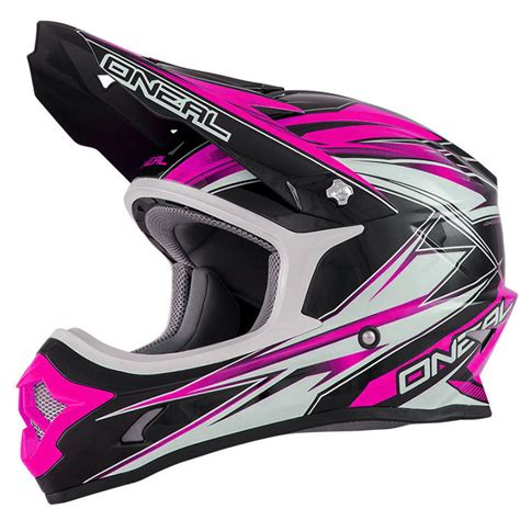 pink motocross helmets oneal ladies mx new 2016 3 series hurricane black pink