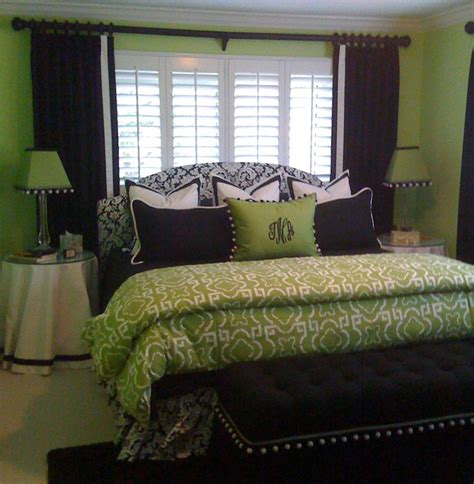 green bedroom contemporary window treatments ta