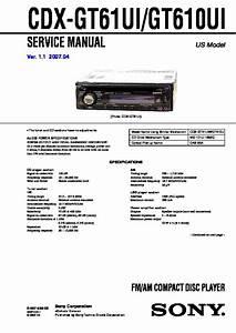 Sony Cdx 610 Wiring Diagram