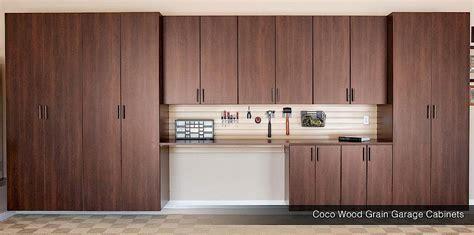 Wood Garage Cabinets   Maple Garage Cabinets   Coco Wood