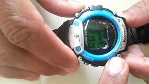 How To Cancel  Stop Alarm In Digital Watch  Sonata