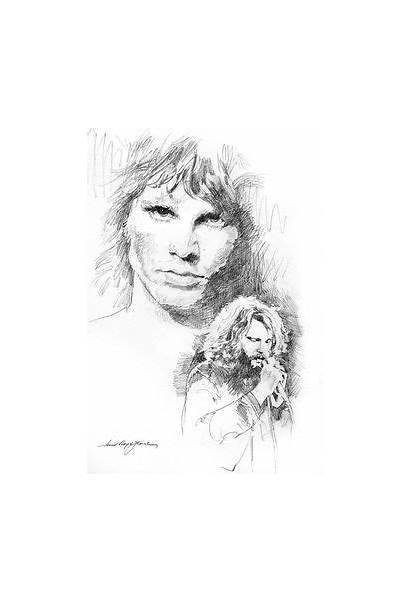 Jim Morrison Faces Glover David Lloyd Drawings