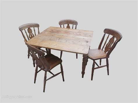 Farmhouse Kitchen Table And Chairs   Antiques Atlas