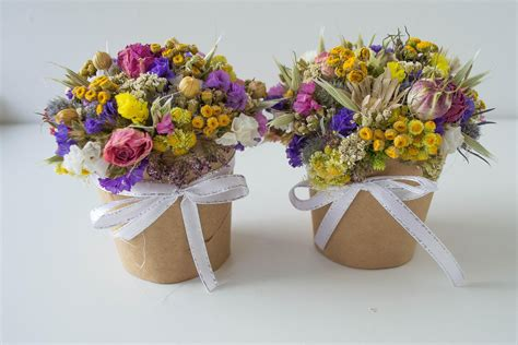 Dry Flowers Decoration For Home: Bouquet Of Dried Flowers Home Decoration Natural Material