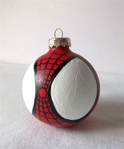 spiderman painted holiday christmas ornament amazing