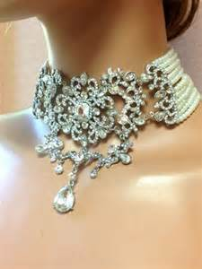handmade chandelier earrings bridal choker statement necklace earrings