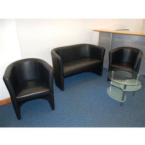 black faux leather tub chairs reception chairs black