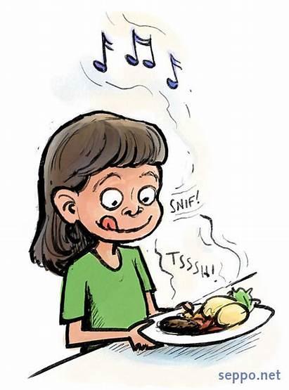 Smell Clipart Sense Ruokailu Lapset Yummy Piirros