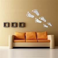 home wall art 6Pcs DIY Footprint Acrylic Wall Sticker Fat Footprints ...