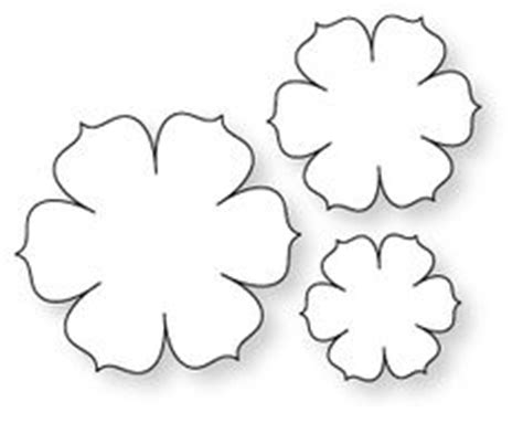cardstock flower template 1000 images about diy flower templates on flower template felt flower template and