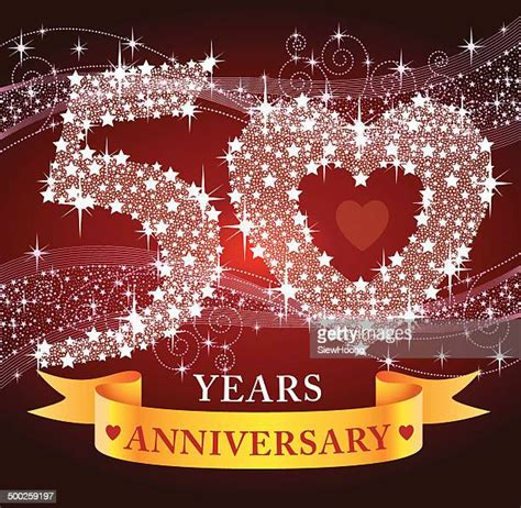 60 Top 50th Wedding Anniversary Stock Illustrations Clip