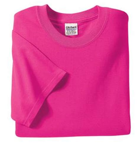 heliconia color heliconia pink 50 50 blend cotton polyester t shirt
