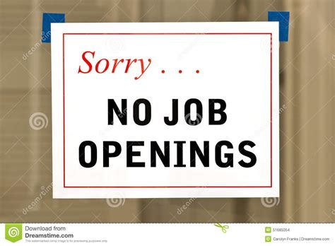 No Job Openings Sign Stock Photo. Image Of Display, People