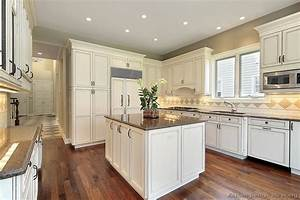 pictures of kitchens traditional off white antique With kitchen design ideas white cabinets