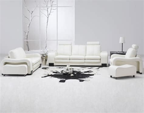 contemporary white leather living room set modern sofa couch loveseat chair ebay