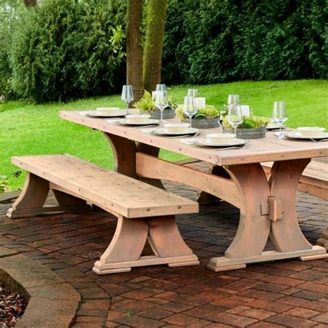 heavy duty viking bench tables woodworking picnic
