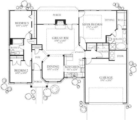 traditional two house plans traditional style house plan 3 beds 2 baths 1442 sq ft