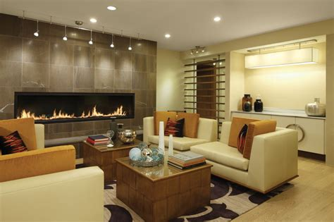 living room with tv and fireplace 7 custom gas fireplace contemporary living room Modern
