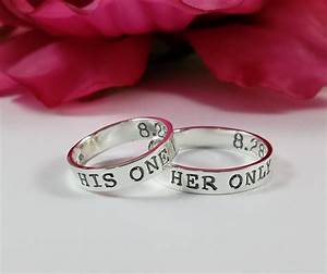 His one her only ring set matching promise rings sterling for Promise engagement wedding ring set