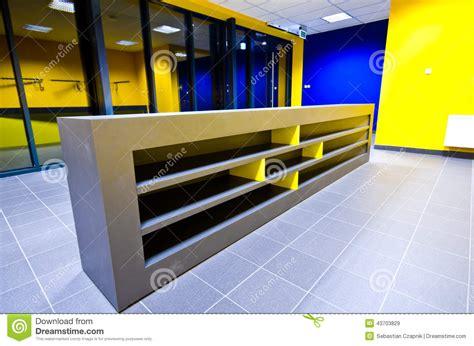 modern design gym counter stock photo image