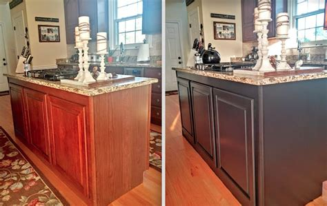 paint kitchen island painted kitchen cabinets makeover before after at