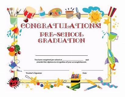 Certificate Preschool Template Graduation Templates Pdf