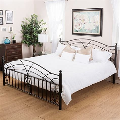 king size iron beds amazoncom