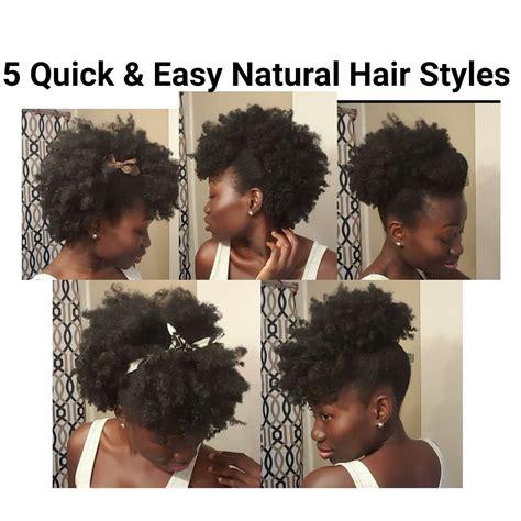 5 Quick And Easy Natural Hair Styles Shortmedium Length