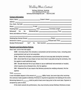 sample music contract template 15 free documents in pdf With musicians contract template