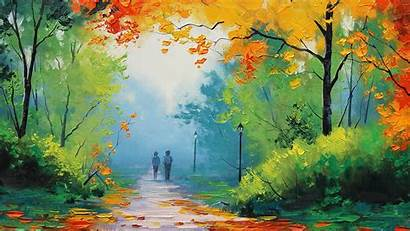 Nature Painting Watercolor Fall Path Graham Gercken
