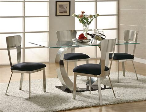 modern dining room set eris modern style dining room set