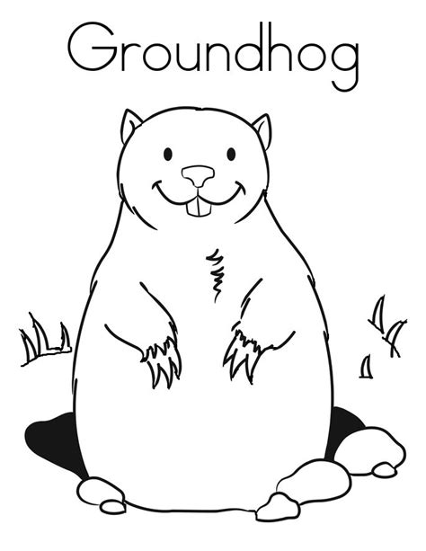 groundhog coloring pages 35 best groundhog day images on net