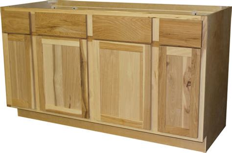 menards unfinished hickory cabinets quality one 60 quot x 34 1 2 quot unfinished hickory sink base
