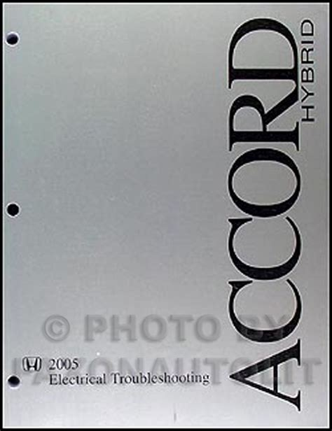 Honda Accord Hybrid Electrical Troubleshooting Manual