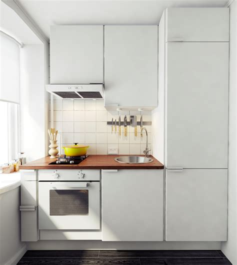 Compact Kitchens For Small Spaces by The Yellow 45 Sqm Apartment Home Tree Atlas